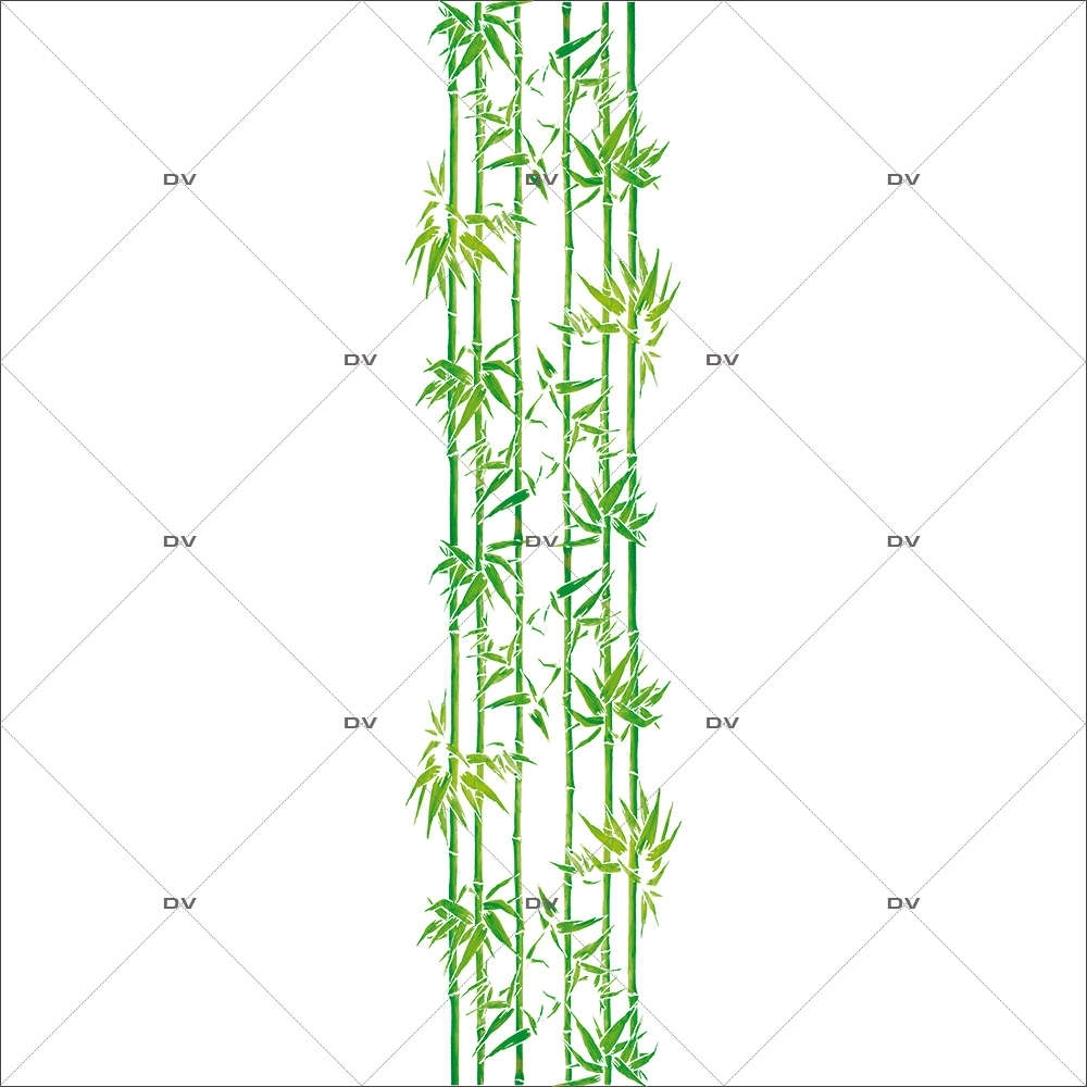 Sticker-frise-de-bambous-exotiques-zen-vitrophanie-décoration-vitrine-estivale-électrostatique-sans-colle-repositionnable-réutilisable-DECO-VITRES