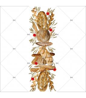 Sticker-géant-frise-pains-français-France-qualité-baguette-épis-campagne-viennois-coquelicots-vitrophanie-décoration-vitrine-boulangerie-pâtisserie-salon-de-thé-électrostatique-sans-colle-repositionnable-réutilisable-DECO-VITRES