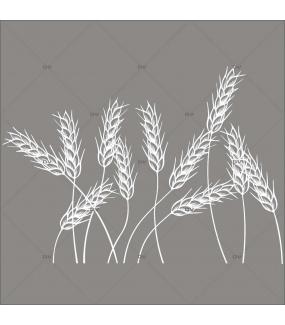 Sticker-frise-d-épis-de-blé-blanc-vitrophanie-décoration-vitrine-boulangerie-pâtisserie-électrostatique-sans-colle-repositionnable-réutilisable-DECO-VITRES