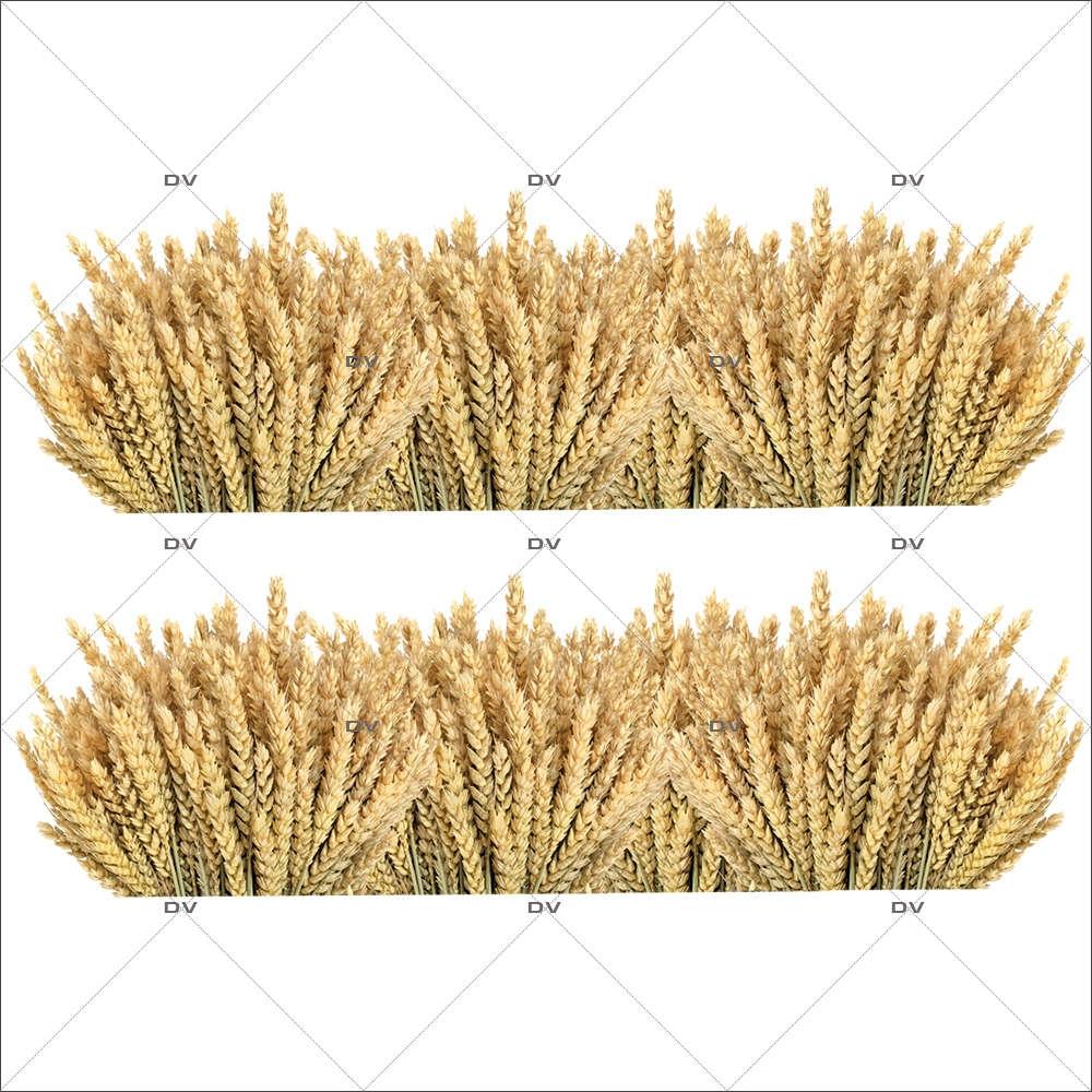Sticker-frises-d-épis-de-blé-vitrophanie-décoration-vitrine-boulangerie-pâtisserie-électrostatique-sans-colle-repositionnable-réutilisable-DECO-VITRES