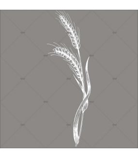 Sticker-géant-épis-de-blé-blancs-vitrophanie-décoration-vitrine-spécial-boulangerie-pâtisserie-électrostatique-sans-colle-repositionnable-réutilisable-DECO-VITRES