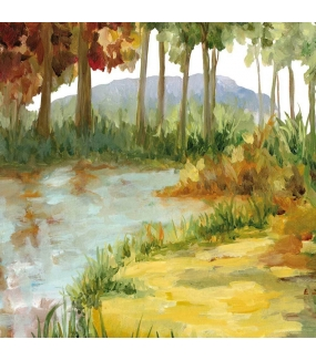 Sticker-décor-campagne-automne-arbres-rivière-vitrophanie-décoration-vitrine-automnale-électrostatique-sans-colle-repositionnable-réutilisable-DECO-VITRES