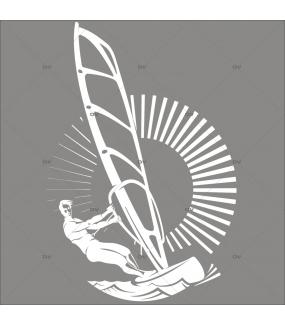 Sticker-véliplanchiste-mer-sport-été-vitrophanie-décoration-vitrine-estivale-électrostatique-sans-colle-repositionnable-réutilisable-DECO-VITRES