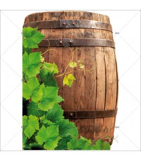Sticker-angle-feuilles-de-vigne-tonneau-vin-vitrophanie-décoration-vitrine-cave-caviste-bar-à-vins-restaurant-supermarché-électrostatique-sans-colle-repositionnable-réutilisable-DECO-VITRES