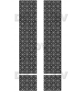 DSP1410 - Lot de 4 stickers moucharabieh personnalisés
