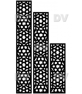 DSP1415 - Lot de 3 stickers moucharabieh