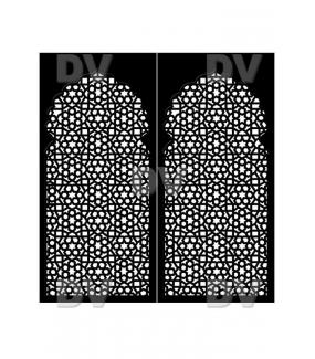 DSP1416 - Lot de 2 stickers moucharabiehs