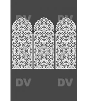 DSP1417 - Lot de 3 stickers moucharabieh