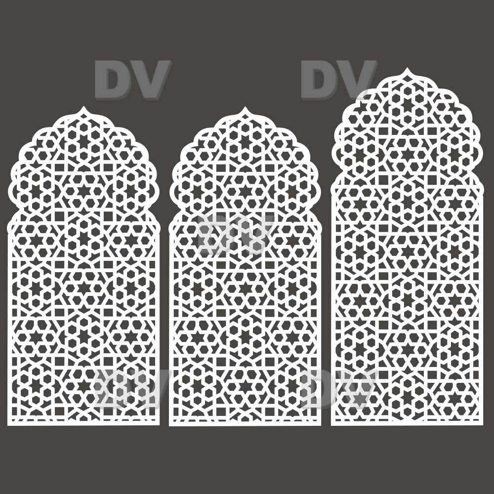 DSP1419 - Lot de 3 stickers moucharabieh