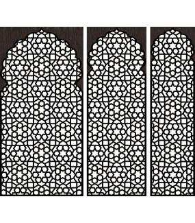 DSP1703 - Lot de 5 stickers moucharabiehs personnalisés