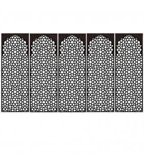 DSP1704 - Lot de 5 stickers moucharabiehs personnalisés