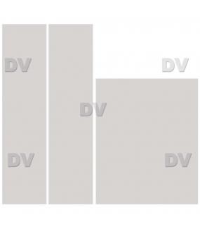 DSP1709 - Lot de 3 stickers adhésifs effet dépoli