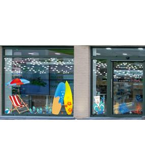Sticker-tongs-produit-solaire-été-vitrophanie-décoration-vitrine-estivale-électrostatique-sans-colle-repositionnable-réutilisable-DECO-VITRES