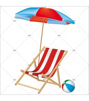 Sticker-chaise-longue-mer-vacances-été-vitrophanie-décoration-vitrine-estivale-électrostatique-sans-colle-repositionnable-réutilisable-DECO-VITRES