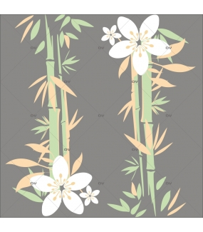 Sticker-bambous-exotiques-été-vitrophanie-décoration-vitrine-estivale-électrostatique-sans-colle-repositionnable-réutilisable-DECO-VITRES