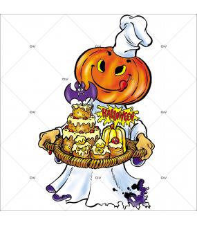 Sticker-Halloween-citrouille-pâtissière-vitrophanie-décoration-vitrine-spécial-boulangerie-pâtisserie-salon-de-thé-électrostatique-sans-colle-repositionnable-réutilisable-DECO-VITRES