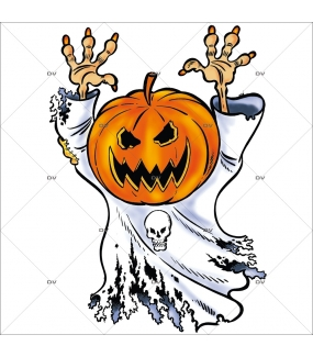 Sticker-halloween-citrouille-fantôme-31-octobre-vitrophanie-décoration-vitrine-halloween-électrostatique-sans-colle-repositionnable-réutilisable-DECO-VITRES