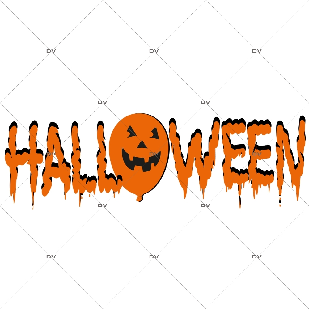 Sticker-halloween-texte-31-octobre-vitrophanie-décoration-vitrine-halloween-électrostatique-sans-colle-repositionnable-réutilisable-DECO-VITRES