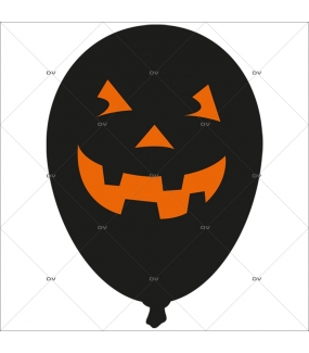 hall80 sticker ballon citrouille halloween deco vitres electrostatique. Black Bedroom Furniture Sets. Home Design Ideas