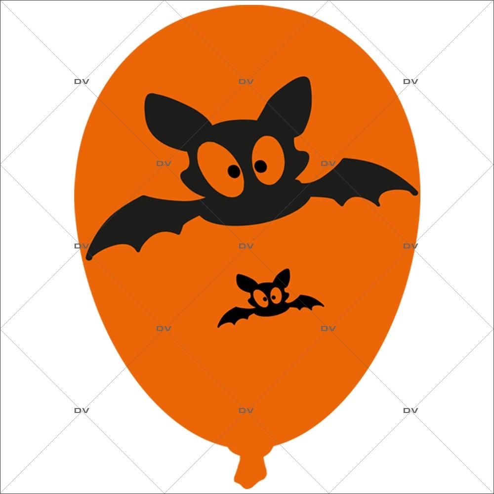 Sticker-halloween-ballon-chauve-souris-31-octobre-vitrophanie-décoration-vitrine-halloween-électrostatique-sans-colle-repositionnable-réutilisable-DECO-VITRES