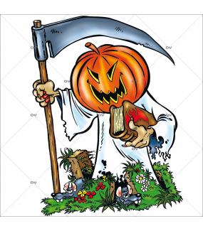 Sticker-halloween-citrouille-faux-31-octobre-vitrophanie-décoration-vitrine-halloween-électrostatique-sans-colle-repositionnable-réutilisable-DECO-VITRES