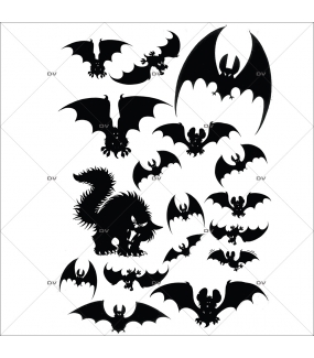 Sticker-halloween-silhouettes-chauve-souris-noir-31-octobre-vitrophanie-décoration-vitrine-halloween-électrostatique-sans-colle-repositionnable-réutilisable-DECO-VITRES