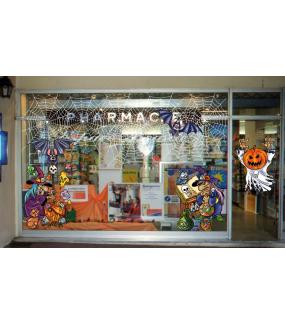 Sticker-halloween-sorcière-grimoire-chouette-potion-magique-31-octobre-vitrophanie-décoration-vitrine-halloween-électrostatique-sans-colle-repositionnable-réutilisable-DECO-VITRES