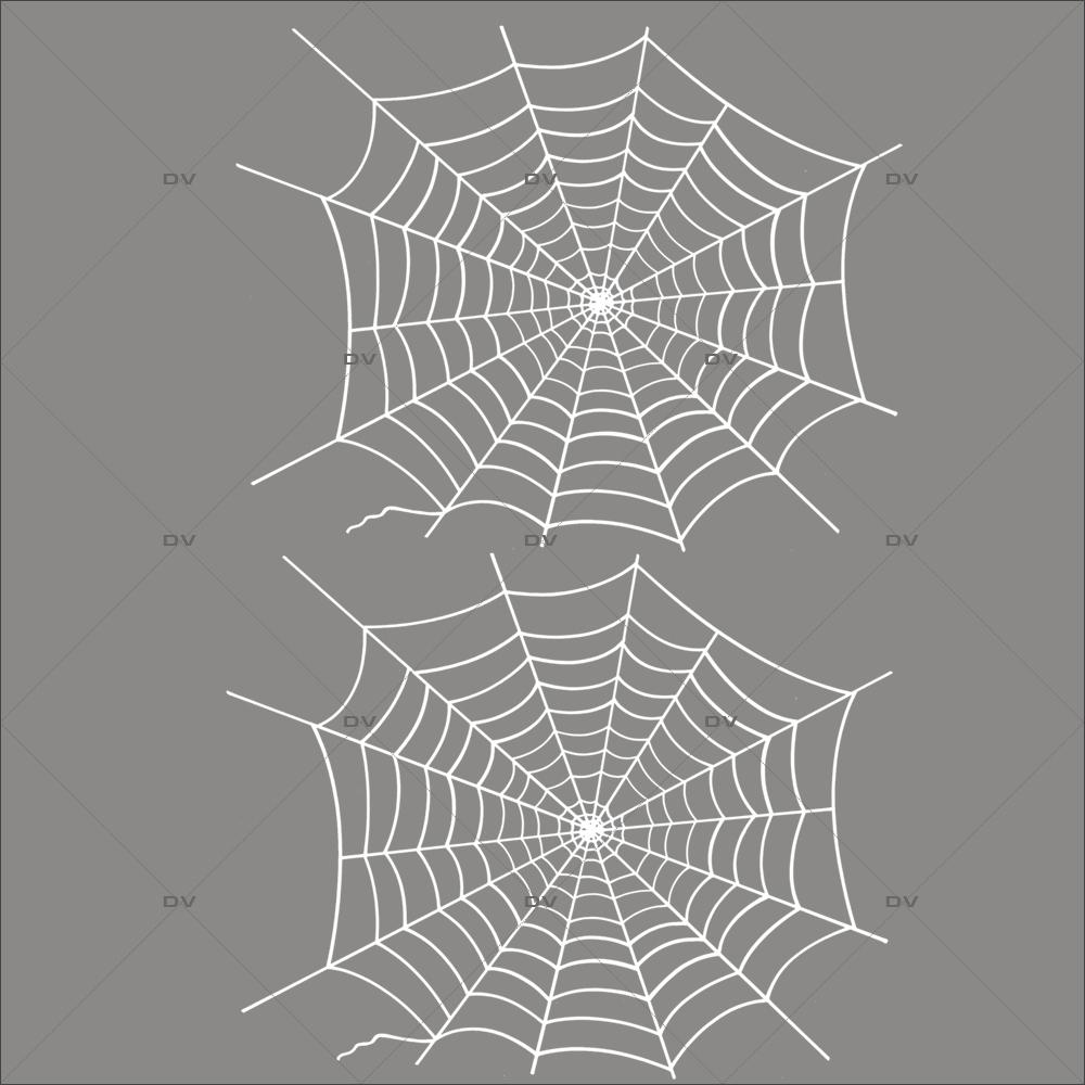 Sticker-halloween-2-toiles-d-araignées-blanc-31-octobre-vitrophanie-décoration-vitrine-halloween-électrostatique-sans-colle-repositionnable-réutilisable-DECO-VITRES
