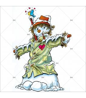 Sticker-bonhomme-de-neige-campagne-vitrophanie-décoration-vitrine-noël-électrostatique-sans-colle-repositionnable-réutilisable-DECO-VITRES