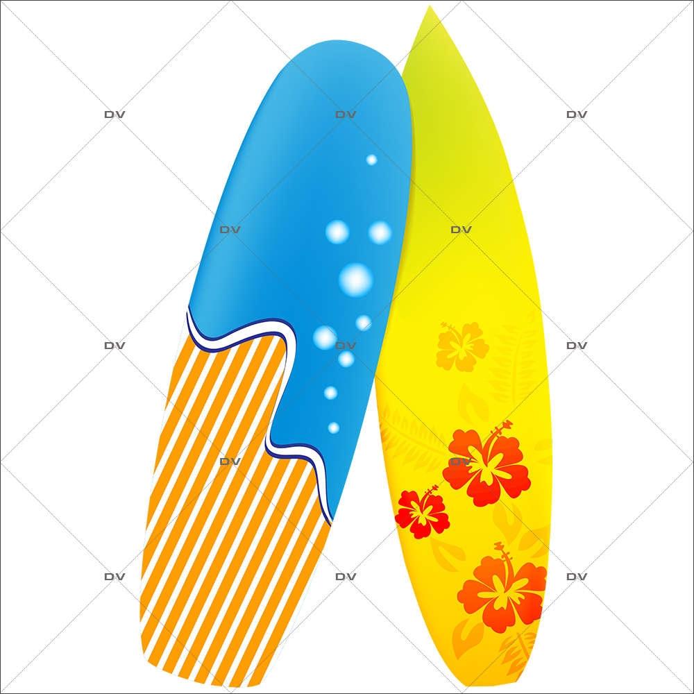 Sticker-planches-de-surf-mer-sport-été-vitrophanie-décoration-vitrine-estivale-électrostatique-sans-colle-repositionnable-réutilisable-DECO-VITRES