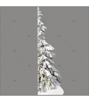 Sticker-paysage-de-neige-demi-sapin-enneigé-nature-hiver-ski-vacances-fête-vitrophanie-décoration-vitrine-noël-électrostatique-sans-colle-repositionnable-réutilisable-DECO-VITRES