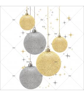 Sticker-angle-suspensions-boules-de-noël-or-argent-vitrophanie-décoration-vitrine-noël-électrostatique-sans-colle-repositionnable-réutilisable-DECO-VITRES