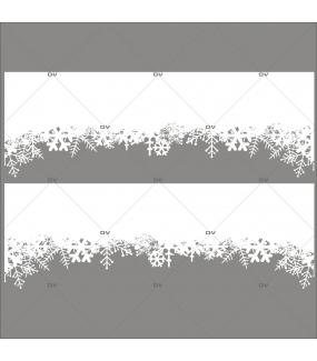 Sticker-frises-cristaux-blancs-paysage-hiver-neige-entourage-vitrophanie-décoration-vitrine-noël-électrostatique-sans-colle-repositionnable-réutilisable-DECO-VITRES