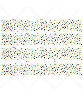 Sticker-frises-de-confetti-multicolores-vitrophanie-décoration-vitrine-carnaval-électrostatique-sans-colle-repositionnable-réutilisable-DECO-VITRES