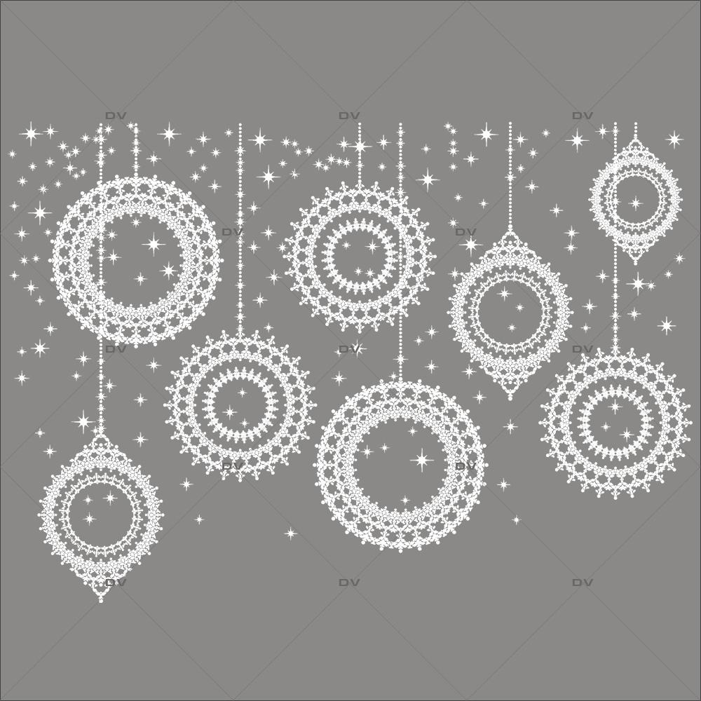 Sticker-frise-suspensions-boules-de-noël-en-cristaux-blanc-vitrophanie-décoration-vitrine-noël-électrostatique-sans-colle-repositionnable-réutilisable-DECO-VITRES