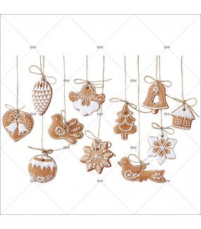 Sticker-frise-gourmandises-gâteaux-de-noël-traditionnels-vitrophanie-décoration-vitrine-noël-boulangerie-pâtisserie-salon-thé-électrostatique-sans-colle-repositionnable-réutilisable-DECO-VITRES
