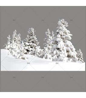 Sticker-paysage-de-neige-sapins-enneigés-nature-hiver-ski-vacances-fête-vitrophanie-décoration-vitrine-noël-électrostatique-sans-colle-repositionnable-réutilisable-DECO-VITRES