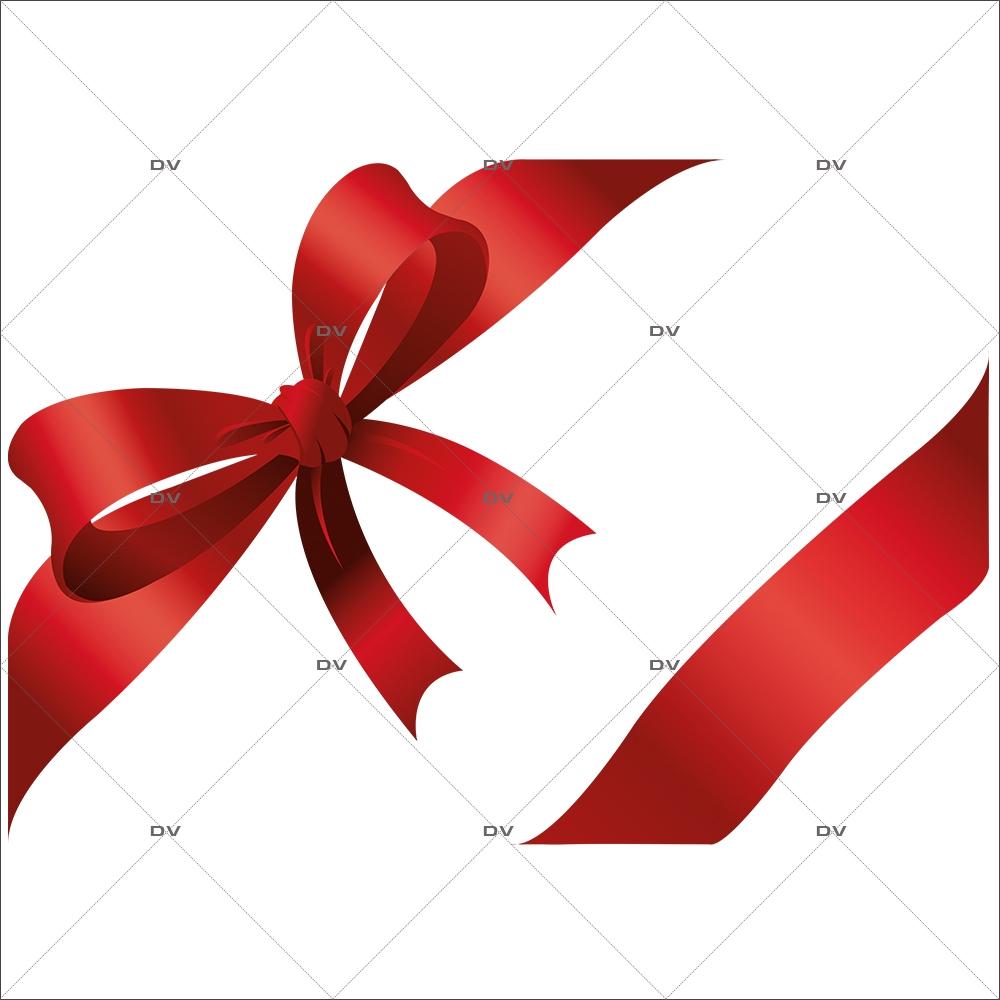 Decoration De Paquets Cadeaux nc5g - sticker noeud et ruban cadeau - deco-vitres - electrostatique