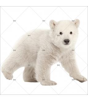 Sticker-ourson-polaire-animaux-vitrophanie-décoration-vitrine-noël-hiver-électrostatique-sans-colle-repositionnable-réutilisable-DECO-VITRES