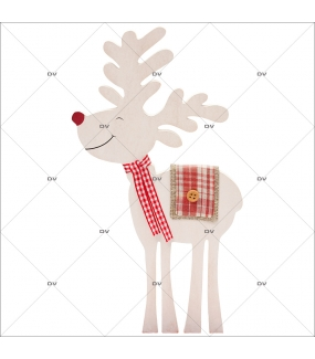 Sticker-renne-animaux-vitrophanie-décoration-vitrine-noël-électrostatique-sans-colle-repositionnable-réutilisable-DECO-VITRES