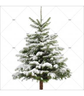 Sticker-paysage-de-neige-sapin-enneigé-hiver-ski-vacances-fête-vitrophanie-décoration-vitrine-noël-électrostatique-sans-colle-repositionnable-réutilisable-DECO-VITRES