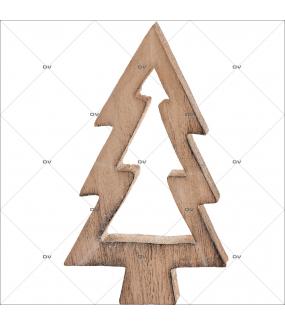 Sticker-paysage-de-neige-sapin-bois-hiver-ski-vacances-fête-vitrophanie-décoration-vitrine-noël-électrostatique-sans-colle-repositionnable-réutilisable-DECO-VITRES