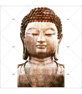 Sticker-bouddha-asiatique-ambiance-zen-adhésif-encres-écologiques-latex-décoration-intérieure-DECO-VITRES
