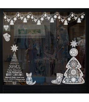 Sticker-sapin-boule-étoile-noël-russe-blanc-vitrophanie-décoration-vitrine-noël-électrostatique-sans-colle-repositionnable-réutilisable-DECO-VITRES