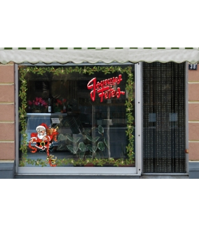 Sticker-texte-joyeux-noël-enneigé-rouge-blanc-vitrophanie-décoration-vitrine-noël-électrostatique-sans-colle-repositionnable-réutilisable-DECO-VITRES