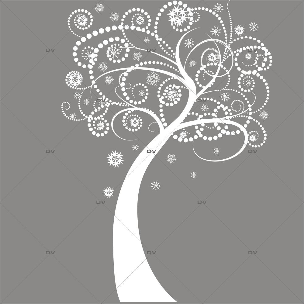 Sticker-arbre-volutes-givrées-blanc-vitrophanie-décoration-vitrine-noël-électrostatique-sans-colle-repositionnable-réutilisable-DECO-VITRES