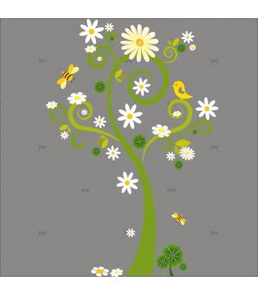 Sticker-arbre-fleuri-printemps-nature-chambre-enfant-bébé-mural-adhésif-encres-écologiques-latex-décoration-intérieure-DECO-VITRES