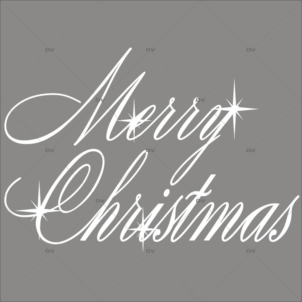 Sticker-texte-merry-christmas-blanc-vitrophanie-décoration-vitrine-noël-électrostatique-sans-colle-repositionnable-réutilisable-DECO-VITRES