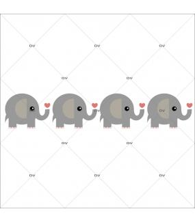 Sticker-éléphant-coeurs-chambre-bébé-enfant-adhésif-encres-écologiques-latex-décoration-intérieure-DECO-VITRES