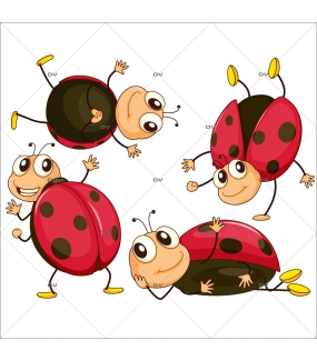 Stickers-4-coccinelles-printanière-chambre-bébé-enfant-mural-adhésif-encres-écologiques-latex-décoration-intérieure-DECO-VITRES